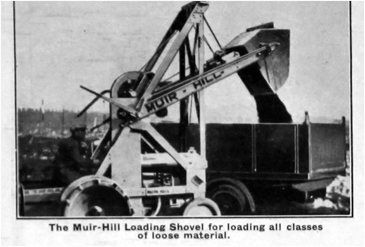 Фото одного из первых погрузчиков, созданных компанией «Muir-Hill Ltd»